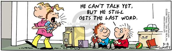 Comic Strip Bob Thaves Tom Thaves  Frank and Ernest 2006-03-08 dialogue