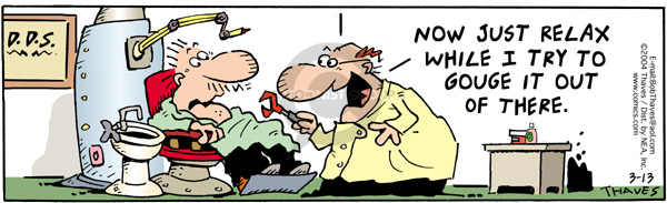 Comic Strip Bob Thaves Tom Thaves  Frank and Ernest 2006-03-13 dentistry
