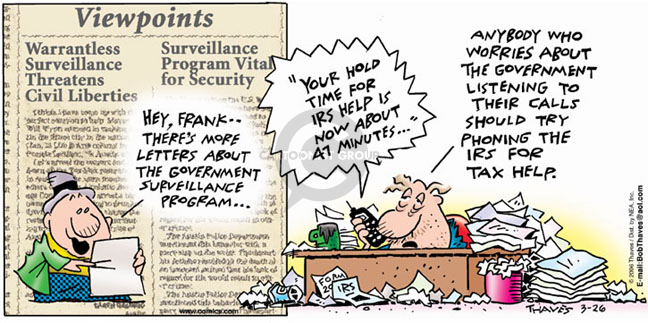 Comic Strip Bob Thaves Tom Thaves  Frank and Ernest 2006-03-26 fourth amendment