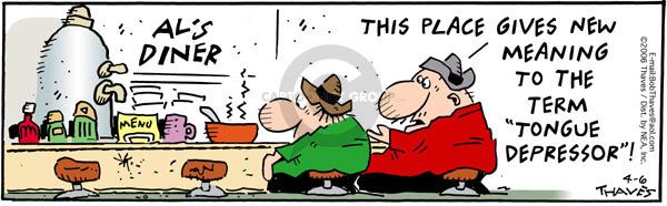 Comic Strip Bob Thaves Tom Thaves  Frank and Ernest 2006-04-06 taste