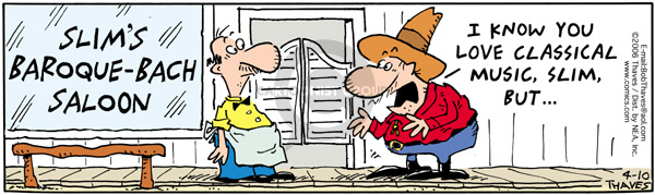 Comic Strip Bob Thaves Tom Thaves  Frank and Ernest 2006-04-10 cowboy