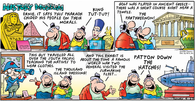 Cartoonist Bob Thaves Tom Thaves  Frank and Ernest 2006-04-23 morality
