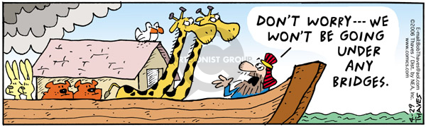 Comic Strip Bob Thaves Tom Thaves  Frank and Ernest 2006-04-29 Noah's Ark