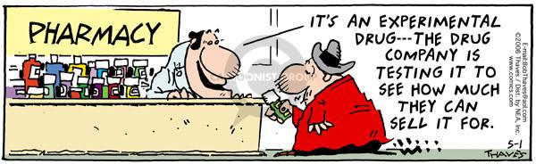 Comic Strip Bob Thaves Tom Thaves  Frank and Ernest 2006-05-01 prescription