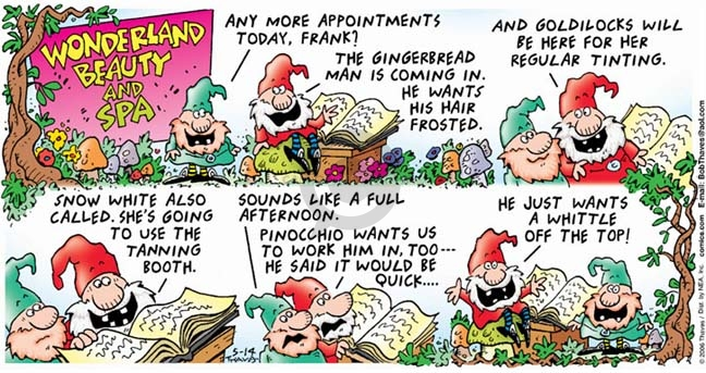 Comic Strip Bob Thaves Tom Thaves  Frank and Ernest 2006-05-14 appointment