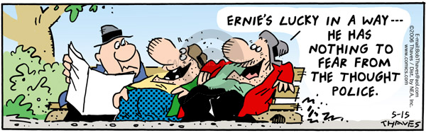 Comic Strip Bob Thaves Tom Thaves  Frank and Ernest 2006-05-15 fourth amendment
