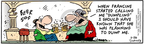 Cartoonist Bob Thaves Tom Thaves  Frank and Ernest 2006-05-26 dump