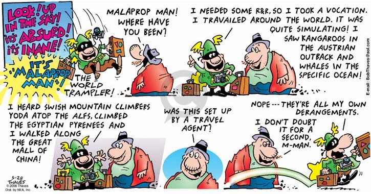 Comic Strip Bob Thaves Tom Thaves  Frank and Ernest 2006-05-28 vacation travel