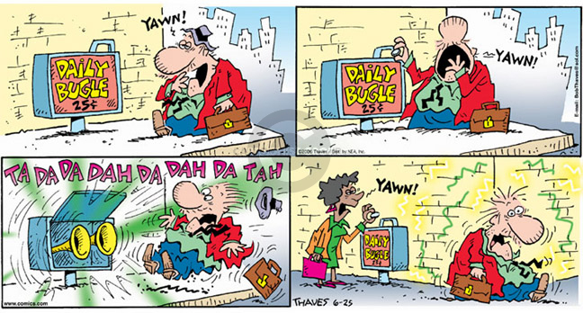 Comic Strip Bob Thaves Tom Thaves  Frank and Ernest 2006-06-25 musical instrument