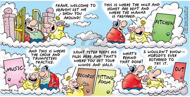 Comic Strip Bob Thaves Tom Thaves  Frank and Ernest 2006-07-16 milk