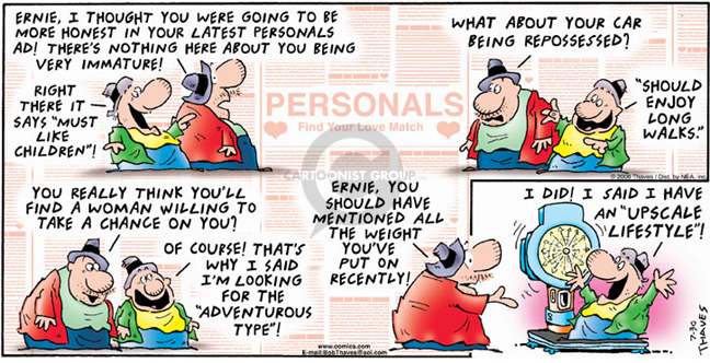 Comic Strip Bob Thaves Tom Thaves  Frank and Ernest 2006-07-30 meaning