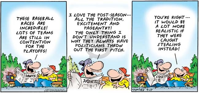 Comic Strip Bob Thaves Tom Thaves  Frank and Ernest 2006-09-17 politics
