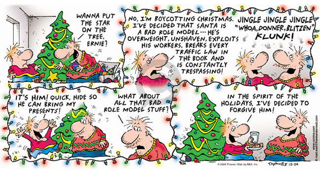 Comic Strip Bob Thaves Tom Thaves  Frank and Ernest 2006-12-24 law
