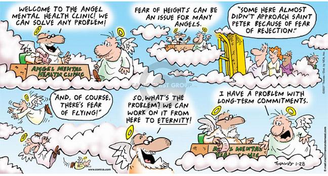 Comic Strip Bob Thaves Tom Thaves  Frank and Ernest 2007-01-28 problem solved