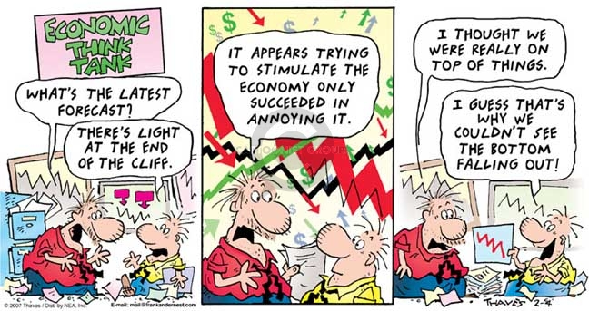 Comic Strip Bob Thaves Tom Thaves  Frank and Ernest 2007-02-04 economy