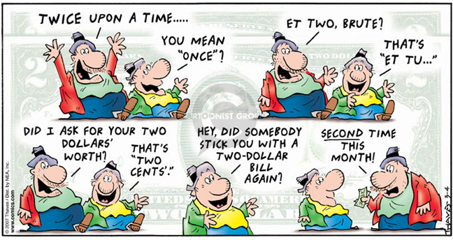 Comic Strip Bob Thaves Tom Thaves  Frank and Ernest 2007-03-04 fake