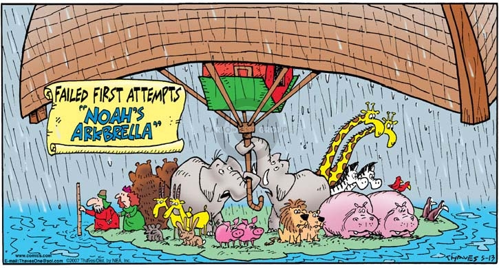 Comic Strip Bob Thaves Tom Thaves  Frank and Ernest 2007-05-13 Noah's Ark