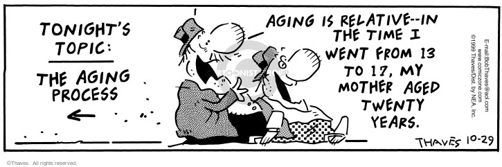 Cartoonist Bob Thaves Tom Thaves  Frank and Ernest 1999-09-29 thirteen