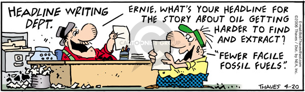 Comic Strip Bob Thaves Tom Thaves  Frank and Ernest 2006-04-20 geology