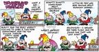 Cartoonist Bob Thaves Tom Thaves  Frank and Ernest 2004-12-12 Goldilocks
