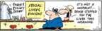 Cartoonist Bob Thaves Tom Thaves  Frank and Ernest 2009-01-09 misprint