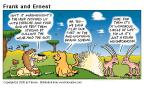 Cartoonist Bob Thaves Tom Thaves  Frank and Ernest 2000-07-23 animal food
