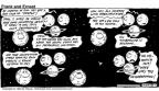 Cartoonist Bob Thaves Tom Thaves  Frank and Ernest 1992-03-15 circle