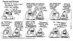 Cartoonist Bob Thaves Tom Thaves  Frank and Ernest 1993-04-04 circle
