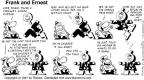 Cartoonist Bob Thaves Tom Thaves  Frank and Ernest 1997-04-06 body part