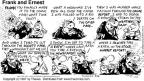 Cartoonist Bob Thaves Tom Thaves  Frank and Ernest 1997-05-04 cleanliness
