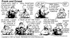 Cartoonist Bob Thaves Tom Thaves  Frank and Ernest 1997-07-13 make ends meet