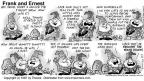 Cartoonist Bob Thaves Tom Thaves  Frank and Ernest 1997-09-07 Jack and Jill