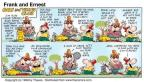 Cartoonist Bob Thaves Tom Thaves  Frank and Ernest 1998-07-12 tennis