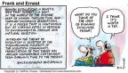 Cartoonist Bob Thaves Tom Thaves  Frank and Ernest 1998-08-02 community