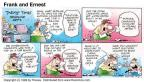 Cartoonist Bob Thaves Tom Thaves  Frank and Ernest 1998-09-13 kite