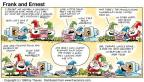 Cartoonist Bob Thaves Tom Thaves  Frank and Ernest 1998-10-11 ouch