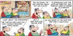 Cartoonist Bob Thaves Tom Thaves  Frank and Ernest 2014-05-18 plays