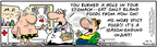 Cartoonist Bob Thaves Tom Thaves  Frank and Ernest 2007-10-11 stomach