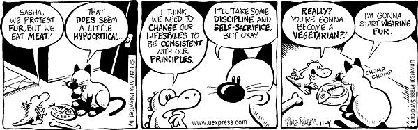 Cartoonist Nina Paley  Fluff 1997-11-04 logic