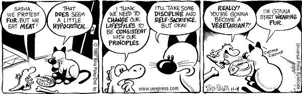 Comic Strip Nina Paley  Fluff 1997-11-04 cat food
