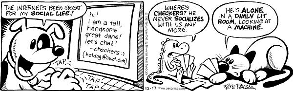 Cartoonist Nina Paley  Fluff 1997-12-17 great