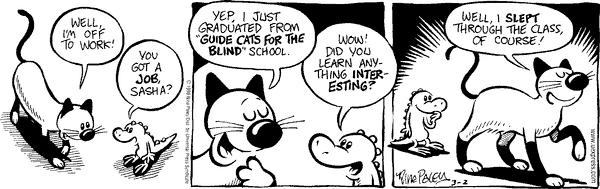 Comic Strip Nina Paley  Fluff 1998-03-02 cat nap