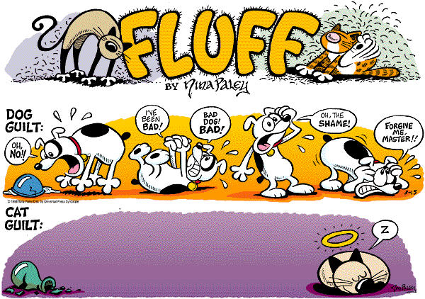 Comic Strip Nina Paley  Fluff 1998-03-15 dog