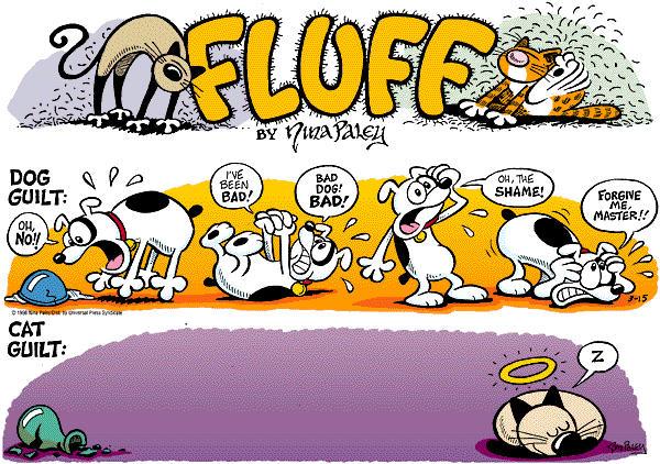Comic Strip Nina Paley  Fluff 1998-03-15 cat