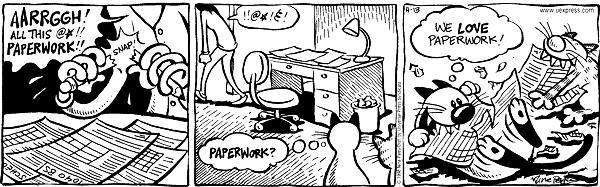 Cartoonist Nina Paley  Fluff 1998-04-13 playing