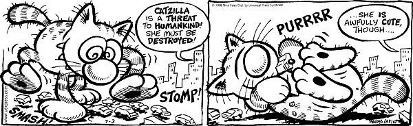Cartoonist Nina Paley  Fluff 1998-07-03 roll
