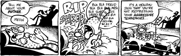 Cartoonist Nina Paley  Fluff 1998-07-30 couch