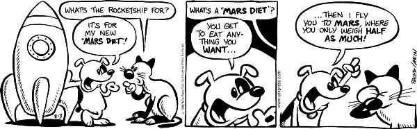 Comic Strip Nina Paley  Fluff 1998-08-03 diet