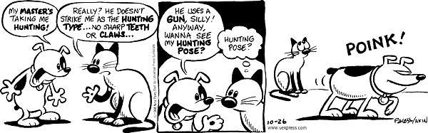 Comic Strip Nina Paley  Fluff 1998-10-26 weapon