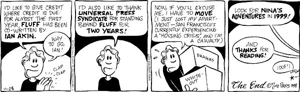 Comic Strip Nina Paley  Fluff 1998-11-28 assistance